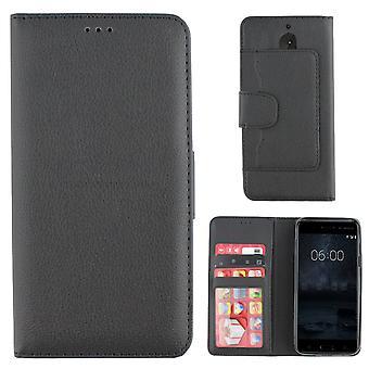 Bolsa de la carpeta de Colorfone Nokia 5 (negro)