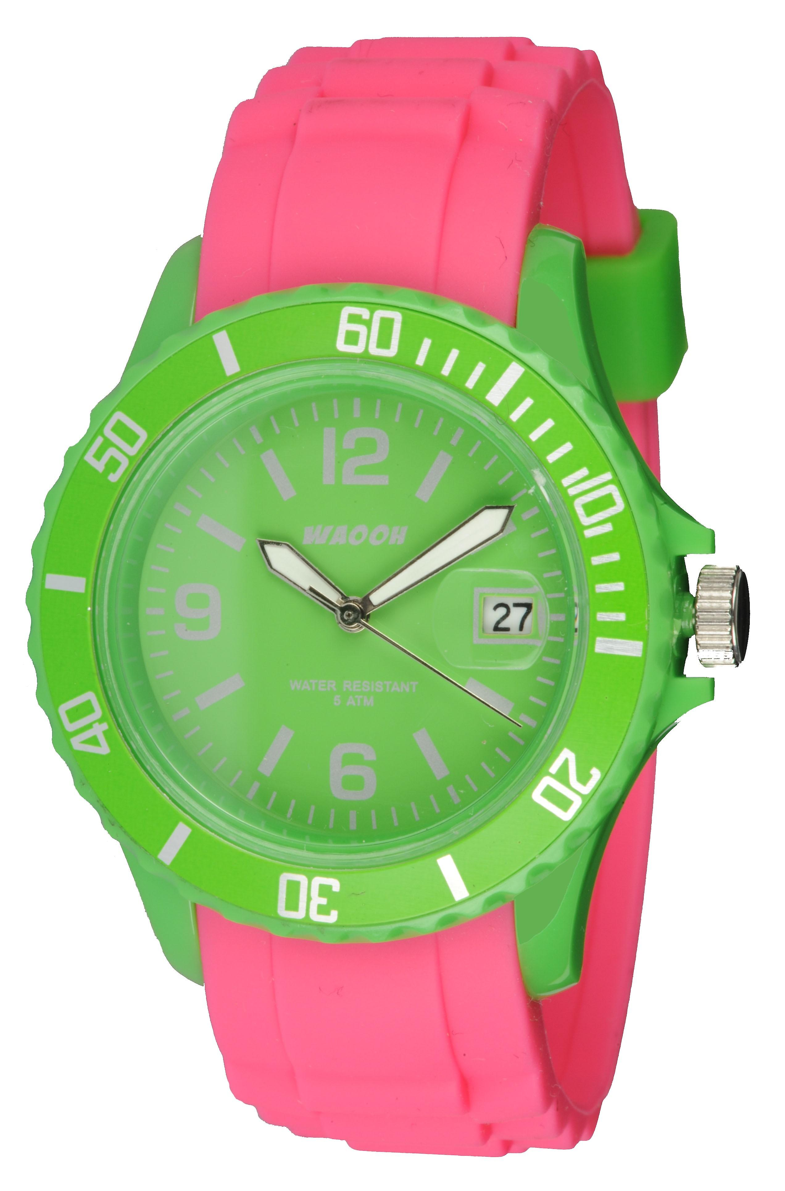 Waooh - Monaco38 Watch - Two Tone & Green