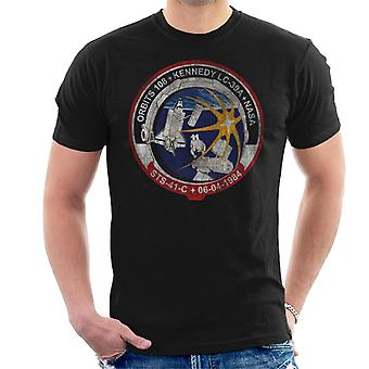 NASA STS 41 C Challenger Mission Badge Distressed Men's T-Shirt