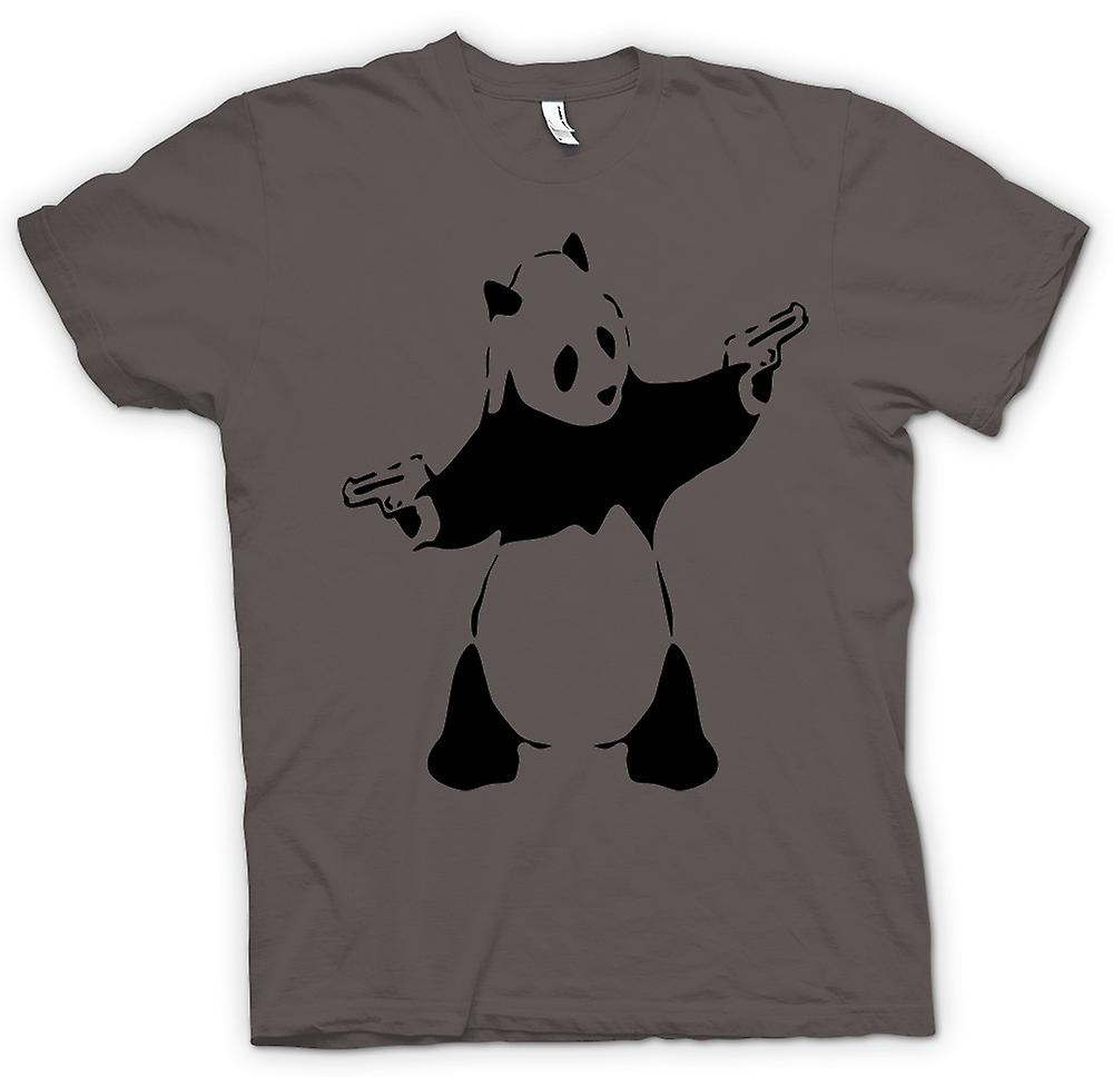 Heren T-shirt - Kids Hoodie - Banksy - Graffiti Wall Art - Panda pistool