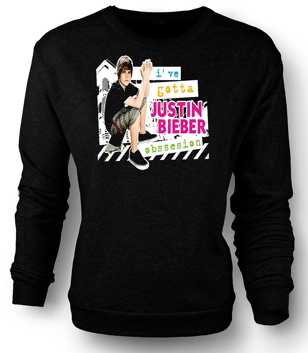 Mens Sweatshirt Justin Bieber obsessie