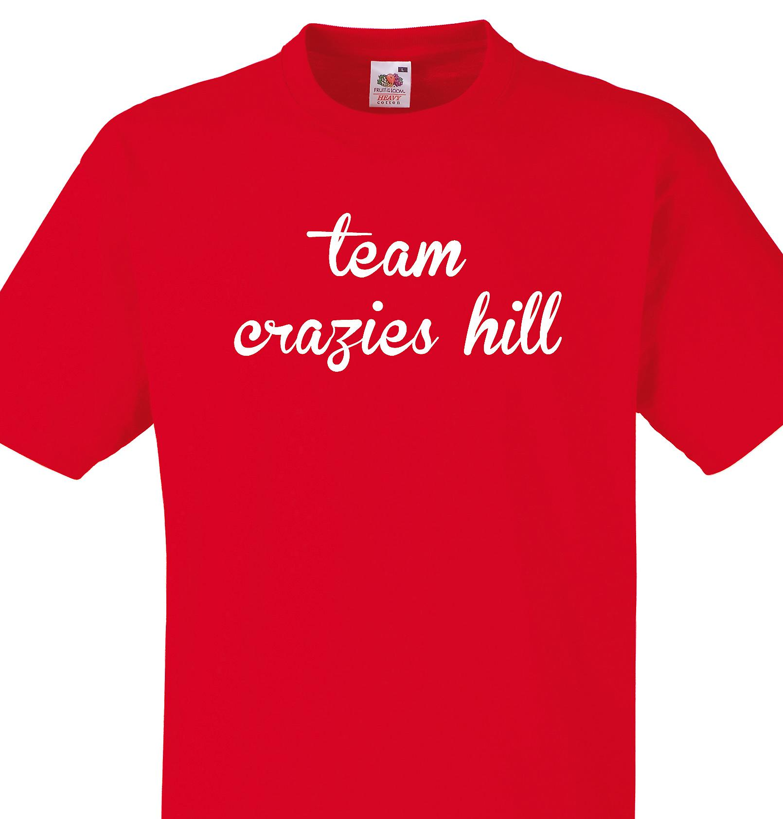 Team Crazies hill Red T shirt
