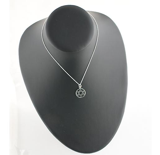 Silver 17mm plain Star of David Pendant with a rolo Chain 14 inches Only Suitable for Children