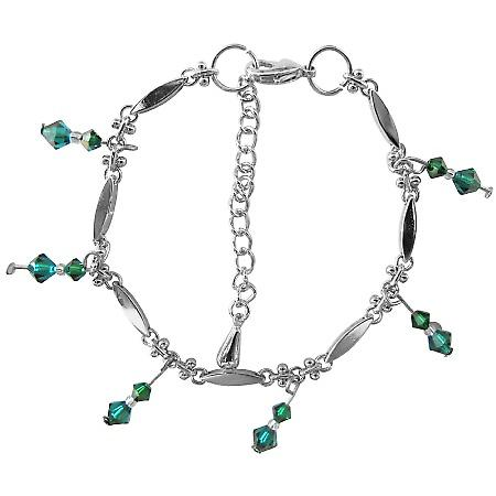 This Bracelet is Exquisite Beauty in Emerald Swarovski Crystals