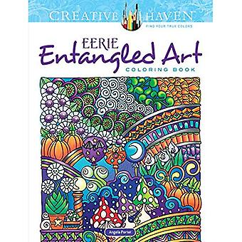 Kreativa oas kuslig intrasslad konst Coloring Book