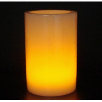 Battery-Op Led Wax Coated Pillar Candle 10Cm X 7.5Cm Blow Out Function 2 Pack (WS308489)