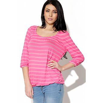 Nur Sheer Stripe Top