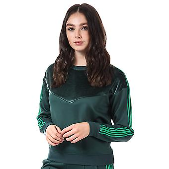 Womens Only Misty Crew Sweatshirt In Green Gables