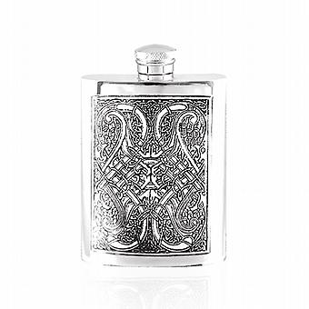 6oz CELTIC KNOT FLASK PEWTER - CEL152