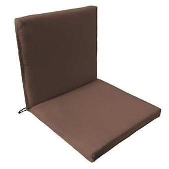 Gardenista® almohadilla de asiento de dos partes de color marrón resistente al agua, paquete de 2