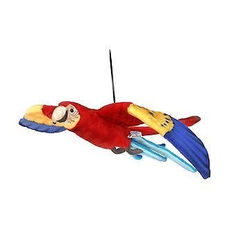 Hansa Peluche veding figura Ara volante rosso