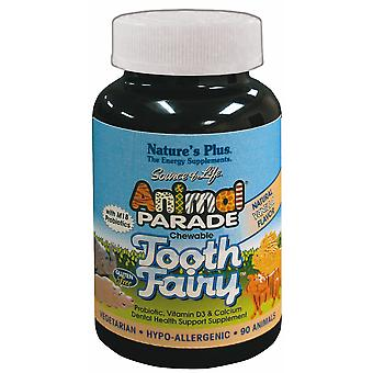 Natures Plus Animal Parade Tooth Fairy Children's Chewable Tablets , 90 Tablets