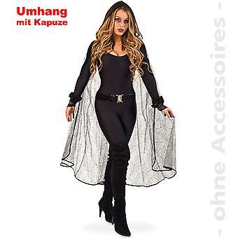 回転のクモの女性衣装魔女吸血鬼のマント ハロウィン女性衣装