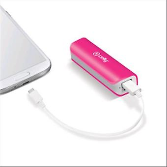Celly pb2600pk power bank 2,600 mah usb port 1a color pink