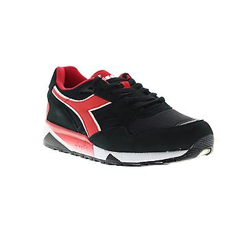 Diadora N9002 Mens Black Suede Sneakers Lace Up Low Top Shoes
