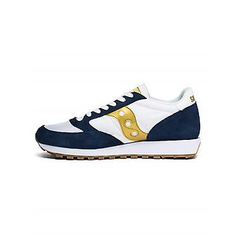 Saucony Saucony Navy, White & Gold Jazz Original Vintage Sneaker