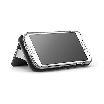 PureGear Folio Case with Kickstand and Card Slot for Samsung Galaxy S4 - Black