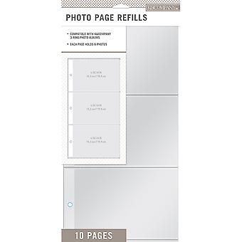 K&Company 3 Up Binder Photo Page Refill 6.625