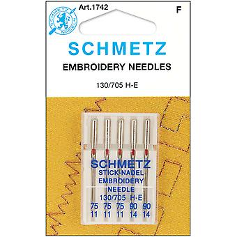 Embroidery Machine Needles 3 75, 2 90 5 Pkg 1742