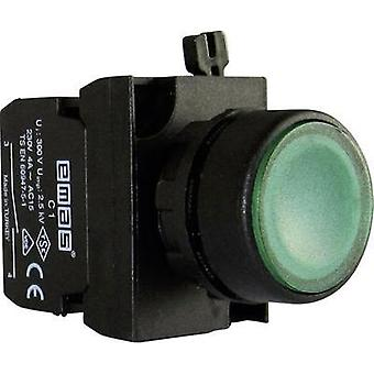 Pushbutton planar, Front ring (PVC), + contact Green EMAS CP101DY 1 pc(s)