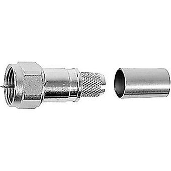 F connector Plug, straight 75 Ω Telegärtner J01600A0009