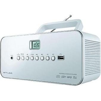 FM Radio/CD Muse Muse M 28 RDW AUX, CD, AM, FM, USB White