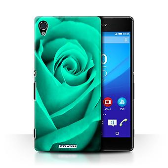 STUFF4 Case/Cover for Sony Xperia Z4v/E6508/Turquoise/Rose