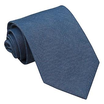 Navy Blue Chambray Cotton Regular Tie