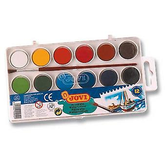 Jovi Box 12 Color Watercolor 800/12 P / 5 (Toys , School Zone , Drawing And Color)