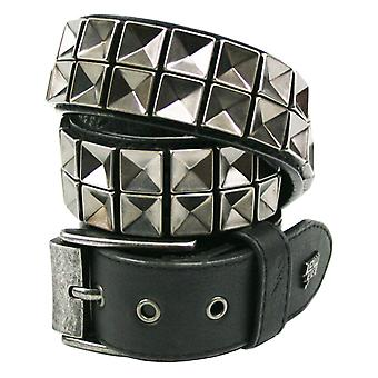 Concave Faux Leather Belt