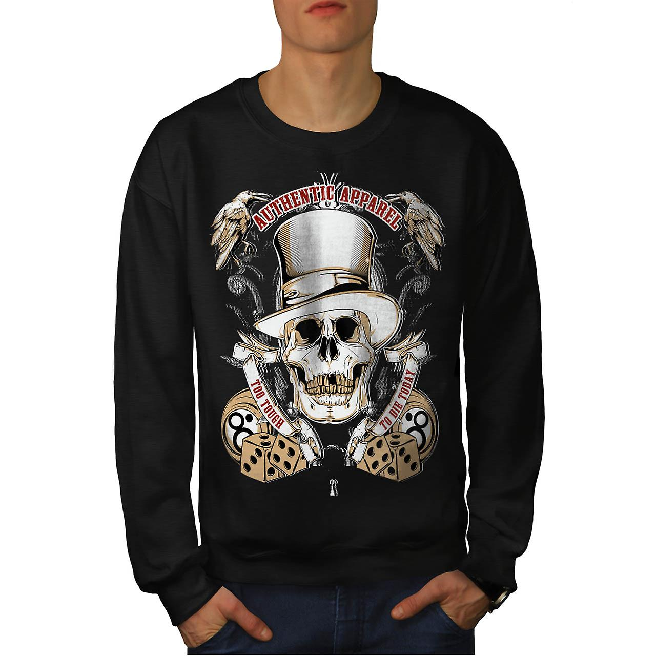 Authentic Dead Casino Game Head Men Black Sweatshirt | Wellcoda