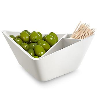 Black & Blum Forminimal White Nut and Olive Bowl