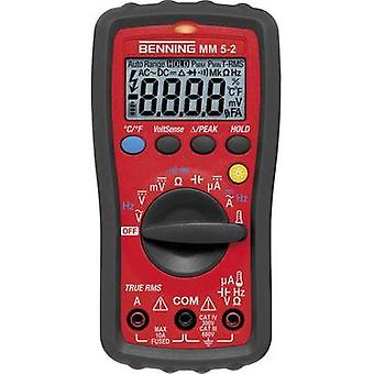 Handheld multimeter digital Benning MM 5-2 Calibrated to: Manufacturer standards CAT III 600 V, CAT IV 300 V Display (c