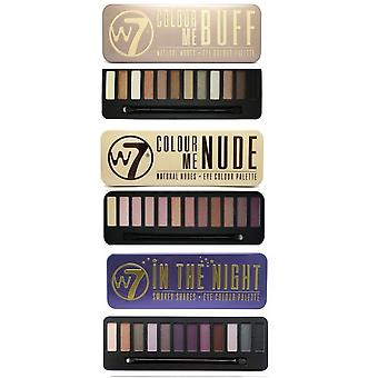 W7 Eyeshadow Palettes- (Colour Me Buff' + Colour Me Nude + In the Night)