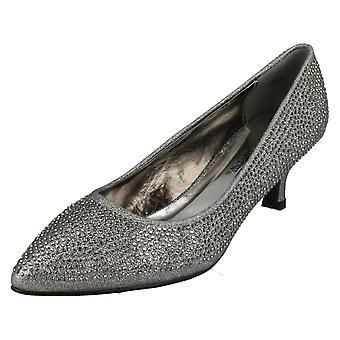 Womens Anne Michelle Diamante Court Shoes