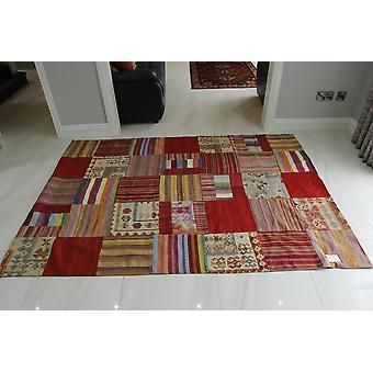 Afghanske Patchwork Kelim orientalsk tæppe