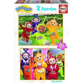 Educa Teletubies Puzzle Doble 2X20 (Toys , Preschool , Puzzles And Blocs)