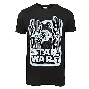 Star Wars Mens Star Wars Tie Fighter Box T Shirt Black
