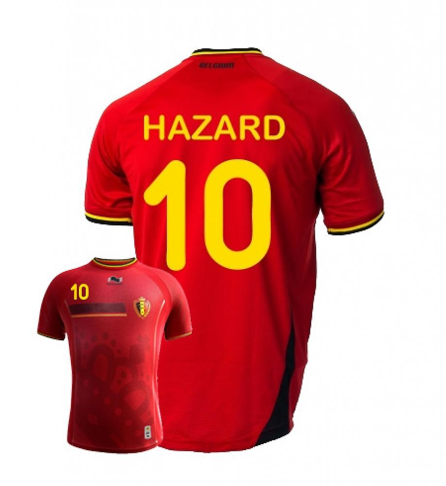 2014-15 Belgium World Cup Home Shirt (Hazard 10)