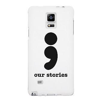 Our Stories-Left White Phone Case