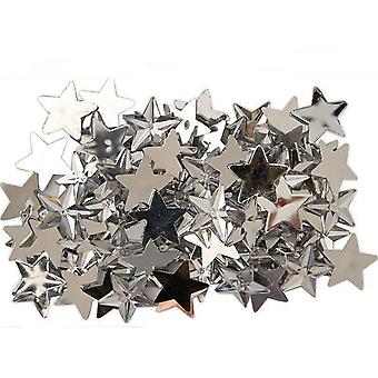 100 Silver Star Gem Stones | Diamante Gemstones Embellishments