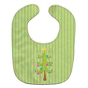 Carolines Treasures  BB8682BIB Christmas Tree and Stripes Baby Bib
