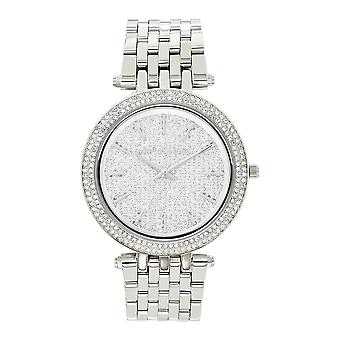 Michael Kors Watches Mk3437 Darci Embedded Crystal & Silver Stainless Steel Ladies Watch