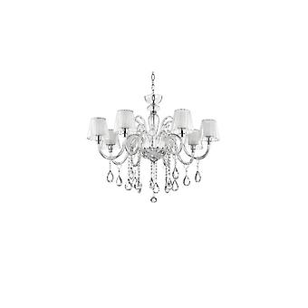 Ideal Lux - Terry Clear Glass Eight Light Chandelier Idl112404
