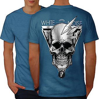 Noise Face Head Skull Men Royal BlueT-shirt Back | Wellcoda