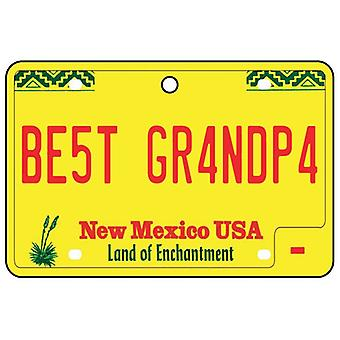 New Mexico - Best Grandpa License Plate Car Air Freshener