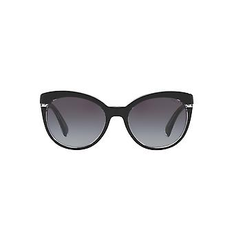 Ralph By Ralph Lauren Two Tone Cateye Sunglasses In Black Crystal