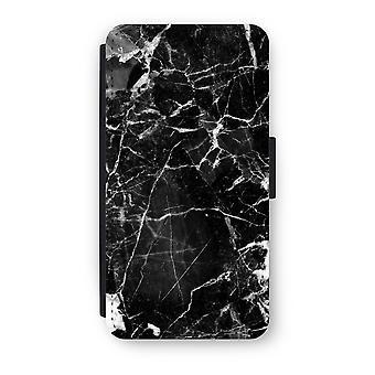 Huawei P9 Flip Case - Black Marble 2