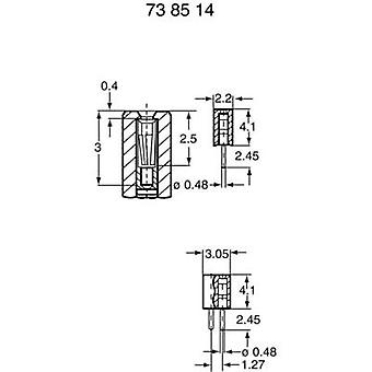 BKL Electronic 10120606 Receptacle Connector , Straight Nominal current (details): 1 A