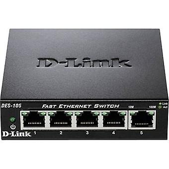 Network RJ45 switch D-Link DES-105 5 ports 100 Mbit/s